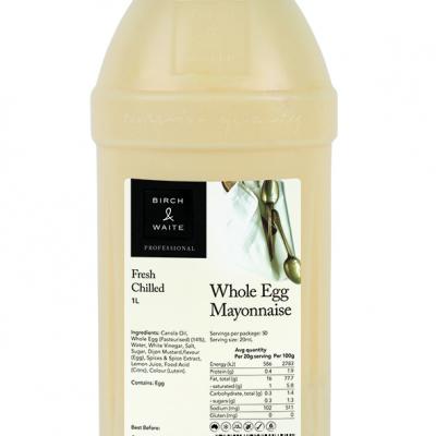 North Coast Smallgoods__1L_Whole Egg Mayonnaise JPG